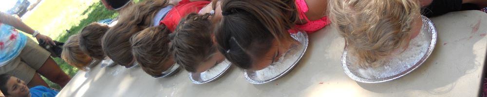 Summer Camp Pie Eating