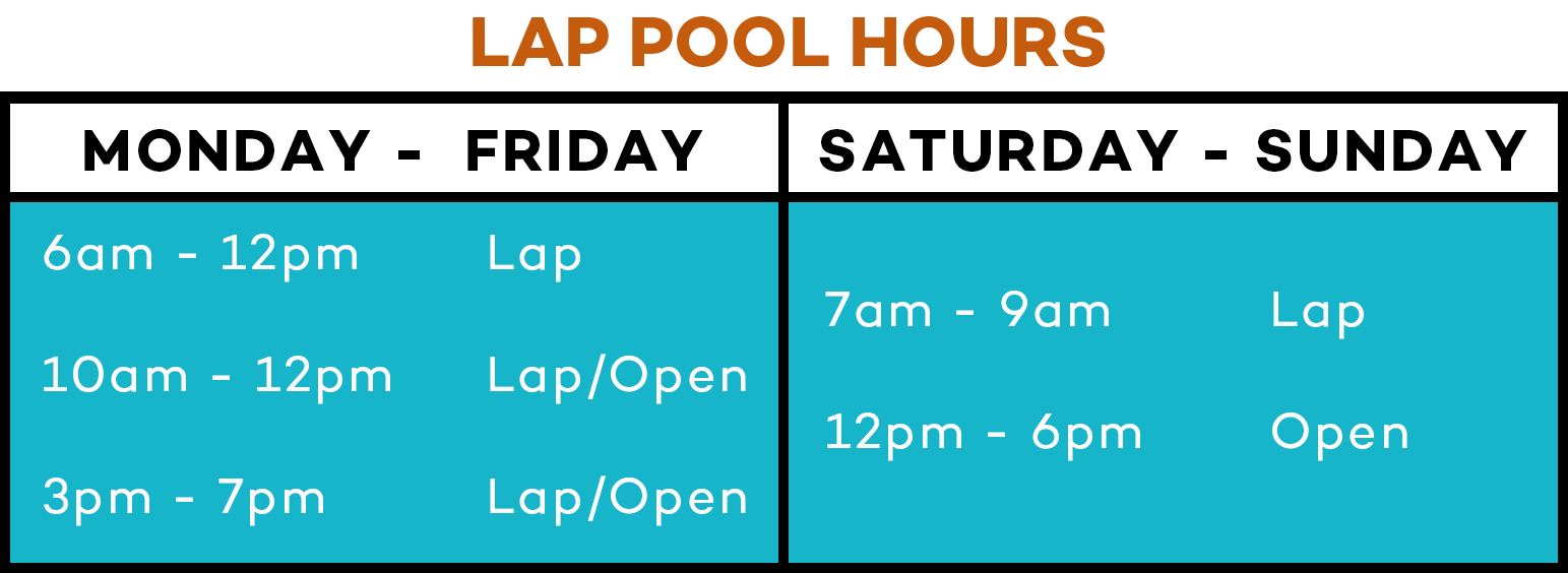 Lap Pool Hours Winter